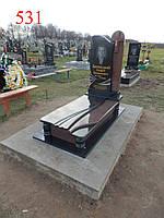 Элитный памятник из токовского гранита и габбро