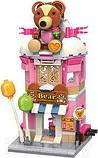 Конструктор магазин игрушек домик медвежонок для детей 9-8-18см, 281 деталь C0109 (36шт), фото 2