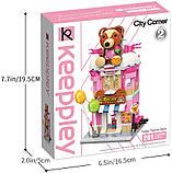 Конструктор магазин игрушек домик медвежонок для детей 9-8-18см, 281 деталь C0109 (36шт), фото 7
