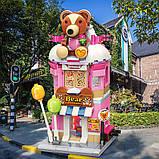 Конструктор магазин игрушек домик медвежонок для детей 9-8-18см, 281 деталь C0109 (36шт), фото 6