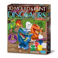 Набір для створення 3D-фігурок з гіпсу Динозаври 4M (00-04777)