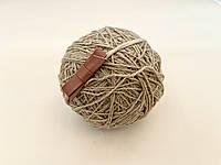 Пов'язка one size з шкіряним бантиком, коричневий