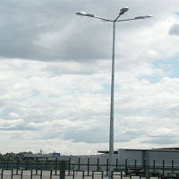 Стальная  гранёная оцинкованная опора высотой 7 м  7ASО60-156F(3)