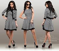 Костюм 2-ка мод  платье и болеро,гусиная лапка принт