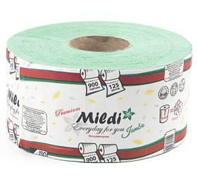 Туалетний папір Mildi Premium Jambo одношаровий 195х90 мм, 900 відривів, 125 метрів, зелений