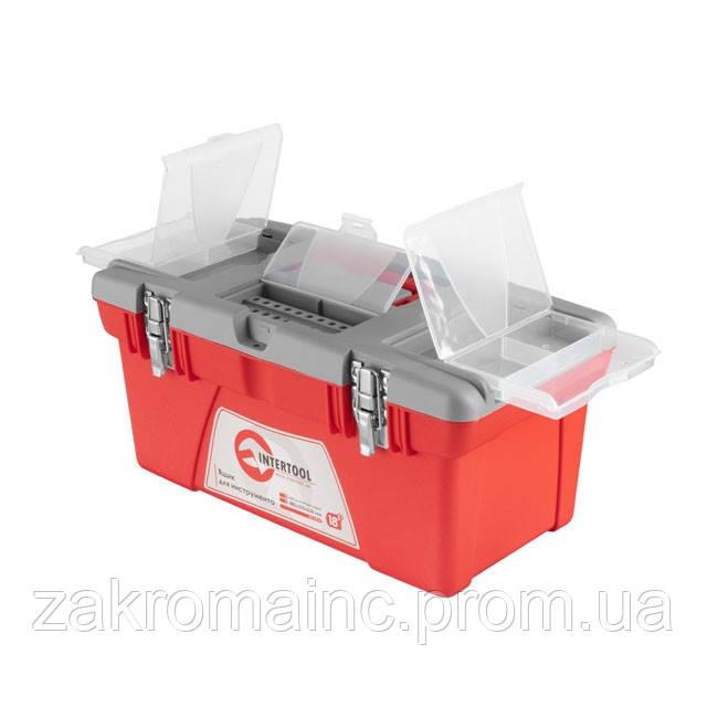 Скринька для інструментів з металевими замками INTERTOOL BX-0518