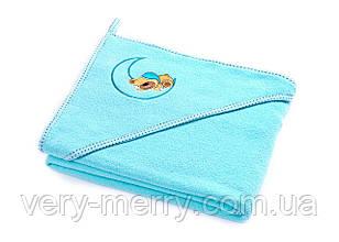 Дитячий махровий рушник з куточком Sensillo Ведмедик Aqua
