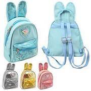 Рюкзак с ушками и блестками 21*20*11см