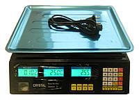 Торговые весы Crystal 40 кг 4V, фото 1