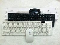 Беспроводная клавиатура и мышь keyboard K06 черная, белая