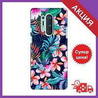 Чехол для OnePlus 8 Pro / Бампер на OnePlus 8 Pro / Чехол для Ван плюс 8 Про (Яркие Цветы)