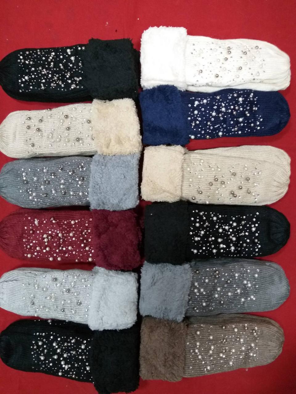 Жіночі зимові рукавички зі стразами