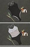 Сплошной купальник с открытой спиной. Купальник моноки с открытой спиной., фото 6