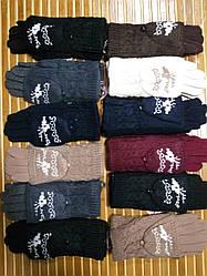 Женские зимние перчатки-варежки Олени