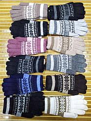 Женские зимние перчатки Снежинки