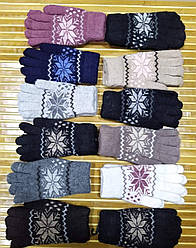 Женские зимние перчатки Снежинка