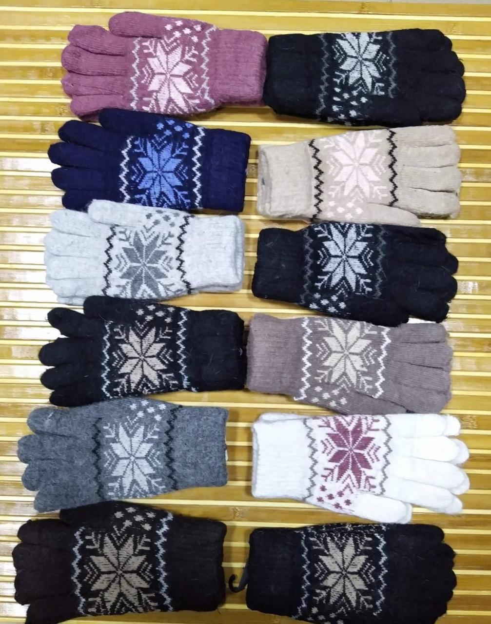 Жіночі зимові рукавички Сніжинка
