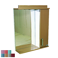 """Зеркало для ванной комнаты с подсветкой и шкафчиком """"Колибри"""" 65zl"""
