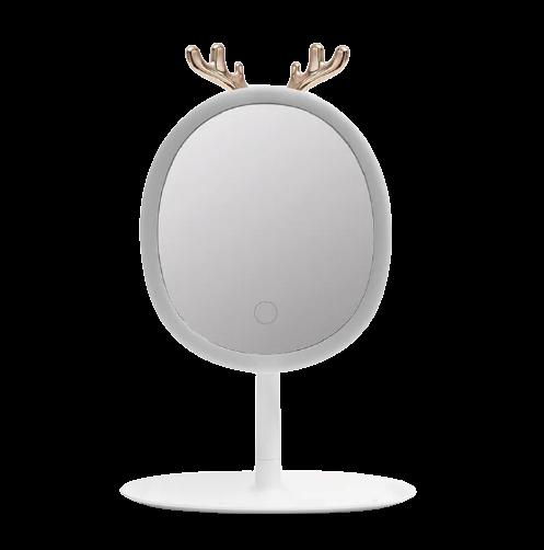 Зеркало овальное с Led подсветкой и держателем бижутерии