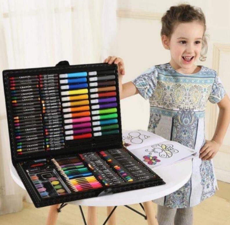 Набор для творчества 228 Super Mega Art Set. Детский набор для рисования. Набор юного художника