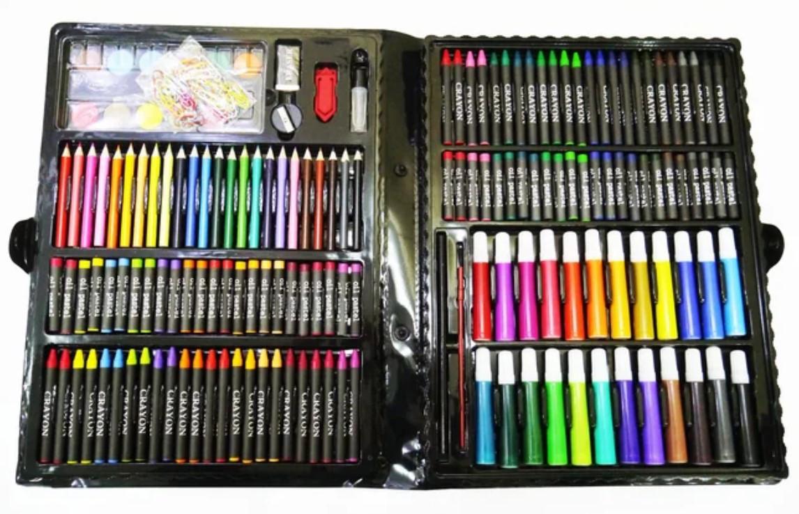 Набір для творчості 228 Super Mega Art Set. Дитячий набір для малювання. Набір юного художника