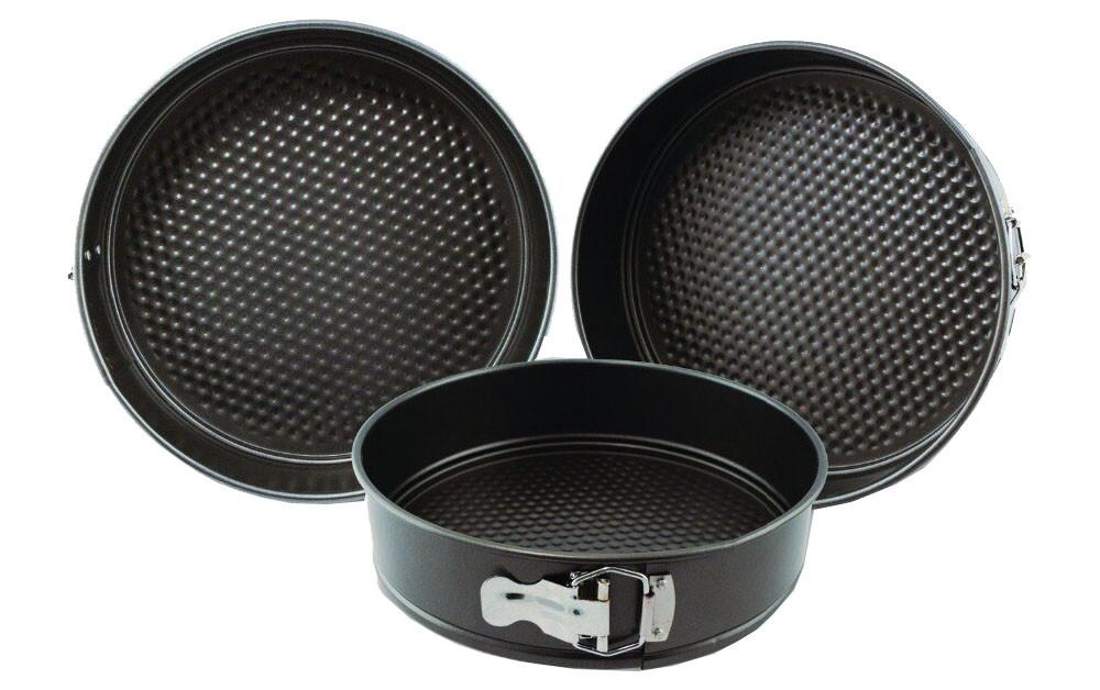 Набор разъемных круглых форм для выпечки 3 шт 18/20/22 см. Формы для выпечки.