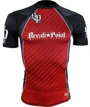 Рашгард с коротким рукавом Break Point New Rash Guard Red