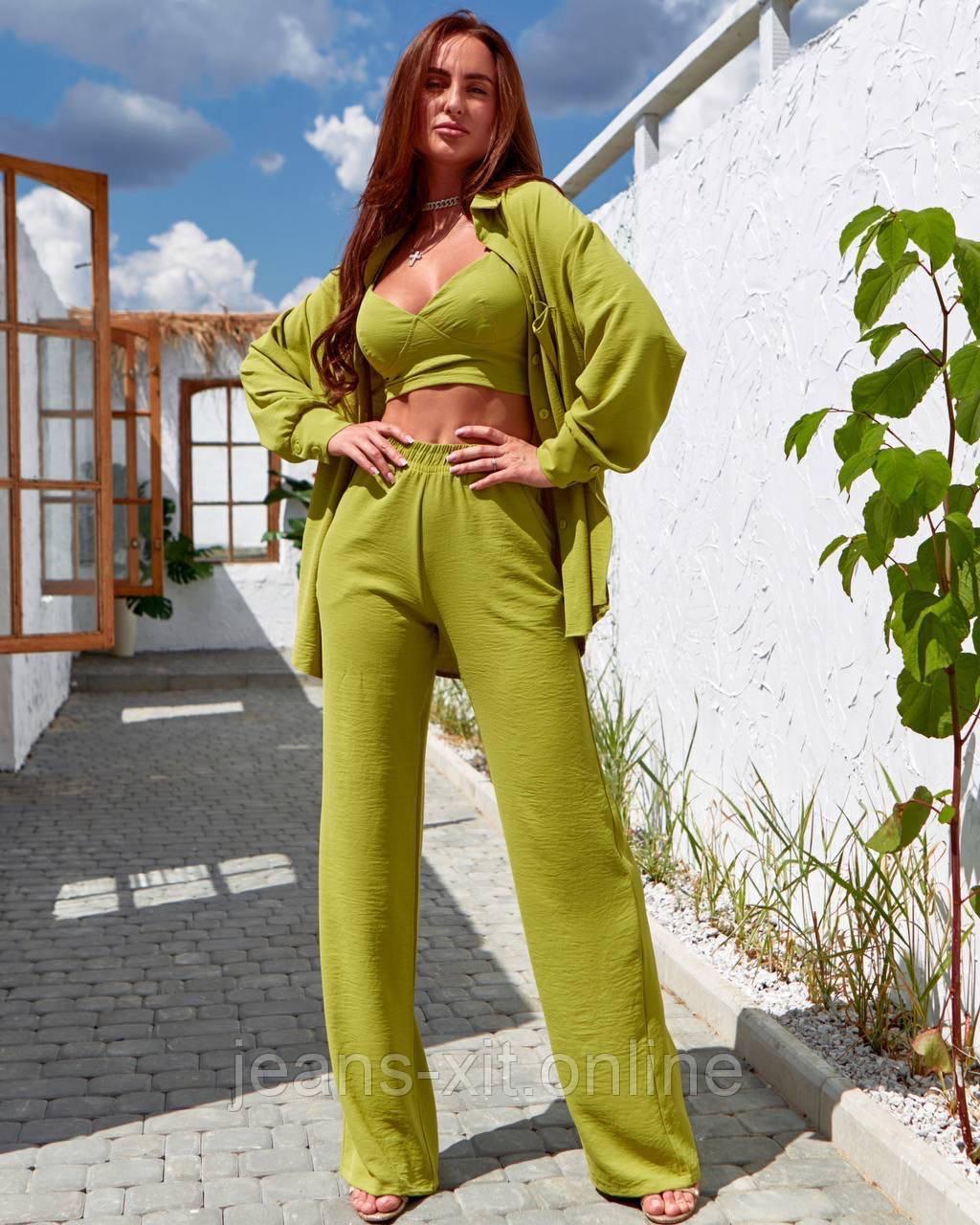 Костюм жіночий M(р) оливковий 0403 Enneli Україна Весна-D