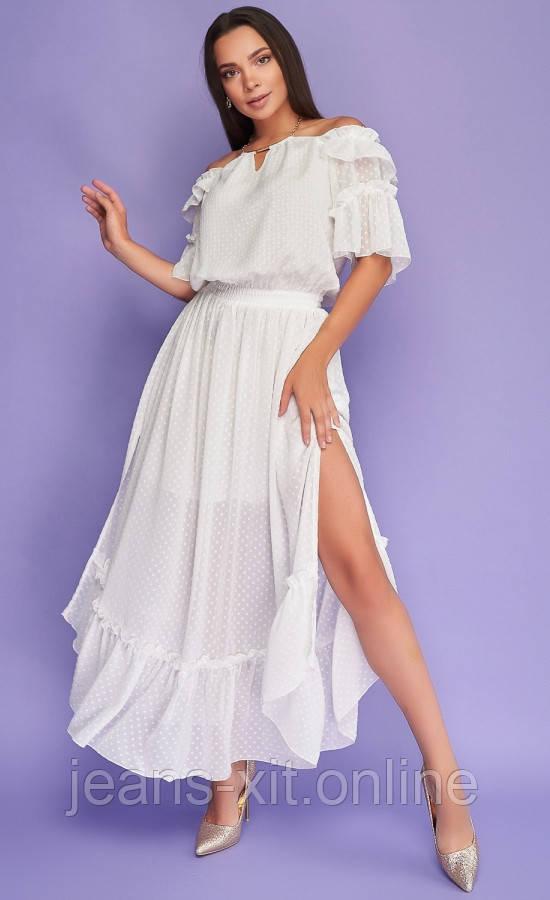 Платье женское 36(р) белое 8855 Poliit Украина Лето-D
