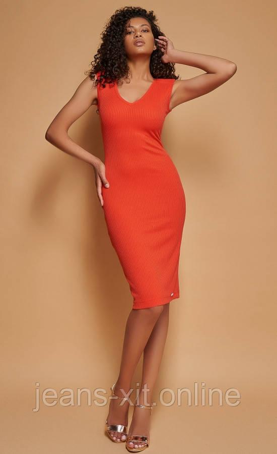 Сукня жіноча 38(р) оранжева 8838 Poliit Україна Літо-D