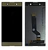 Дисплей (екран) для Sony G3212 Xperia XA1 Ultra Dual/G3221/G3223/G3226 + тачскрін, золотистий, оригінал