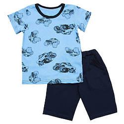 Комплект для хлопчика футболка і шорти Джип 60 (104см-110см)
