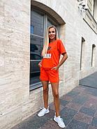 Костюм женский двойка (шорты на резинке и футболка с надписями), фото 2