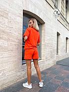 Костюм женский двойка (шорты на резинке и футболка с надписями), фото 5