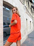 Костюм женский двойка (шорты на резинке и футболка с надписями), фото 6