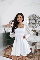 Шикарне коктейльне плаття з сіткою