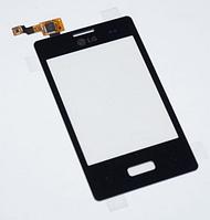 Оригинальный тачскрин / сенсор (сенсорное стекло) для LG Optimus L3 E400 (черный цвет)
