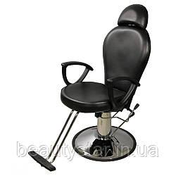 Перукарське крісло з підголовником і регульованою спинкою ZD-346B перукарські крісла на гідравліці