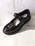 Туфлі на школу. Чорні туфлі для дівчинки., фото 9