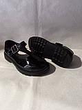 Туфлі на школу. Чорні туфлі для дівчинки., фото 3