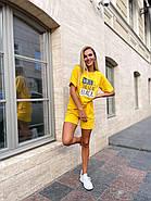 Прогулянковий костюм двійка жіночий (шорти на резинці і футболка з коротким рукавом), фото 2