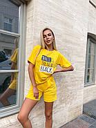 Прогулянковий костюм двійка жіночий (шорти на резинці і футболка з коротким рукавом), фото 4