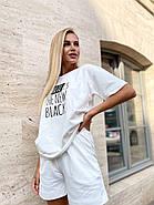Зручний жіночий костюм двійка (шорти і футболка), фото 2