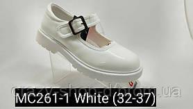 Белые лаковые туфли на девочку. Apawwa.
