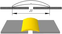 Алюминиевый порожек гладкий АП-001, фото 1
