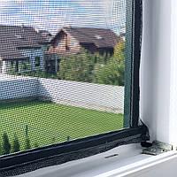 Москитная сетка на липучках на пластиковое окно, самоклеящаяся аннтимоскитная сетка MVM 1500*900 ммм