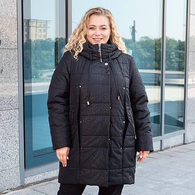Пальто зимние женские  больших размеров   50-60 черный