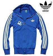 Мужская кофта мастерка олимпийка Adidas Originals синяя