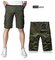 Мужские шорты модель 0002 цвет хаки (темно-зеленый)