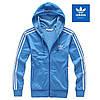 Женская легкая капюшонка Adidas D S logo Firebird blue